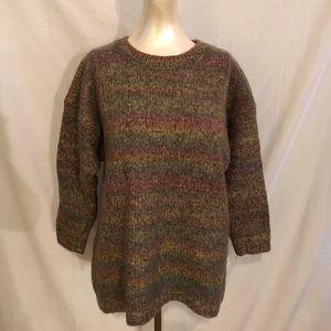 Vintage Benetton Wool Blend Pastel Rainbow Ombré